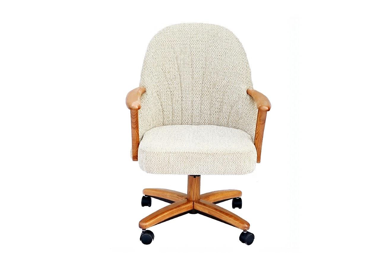 Chromcraft Furniture C127 936 Swivel Tilt Caster Arm Chair