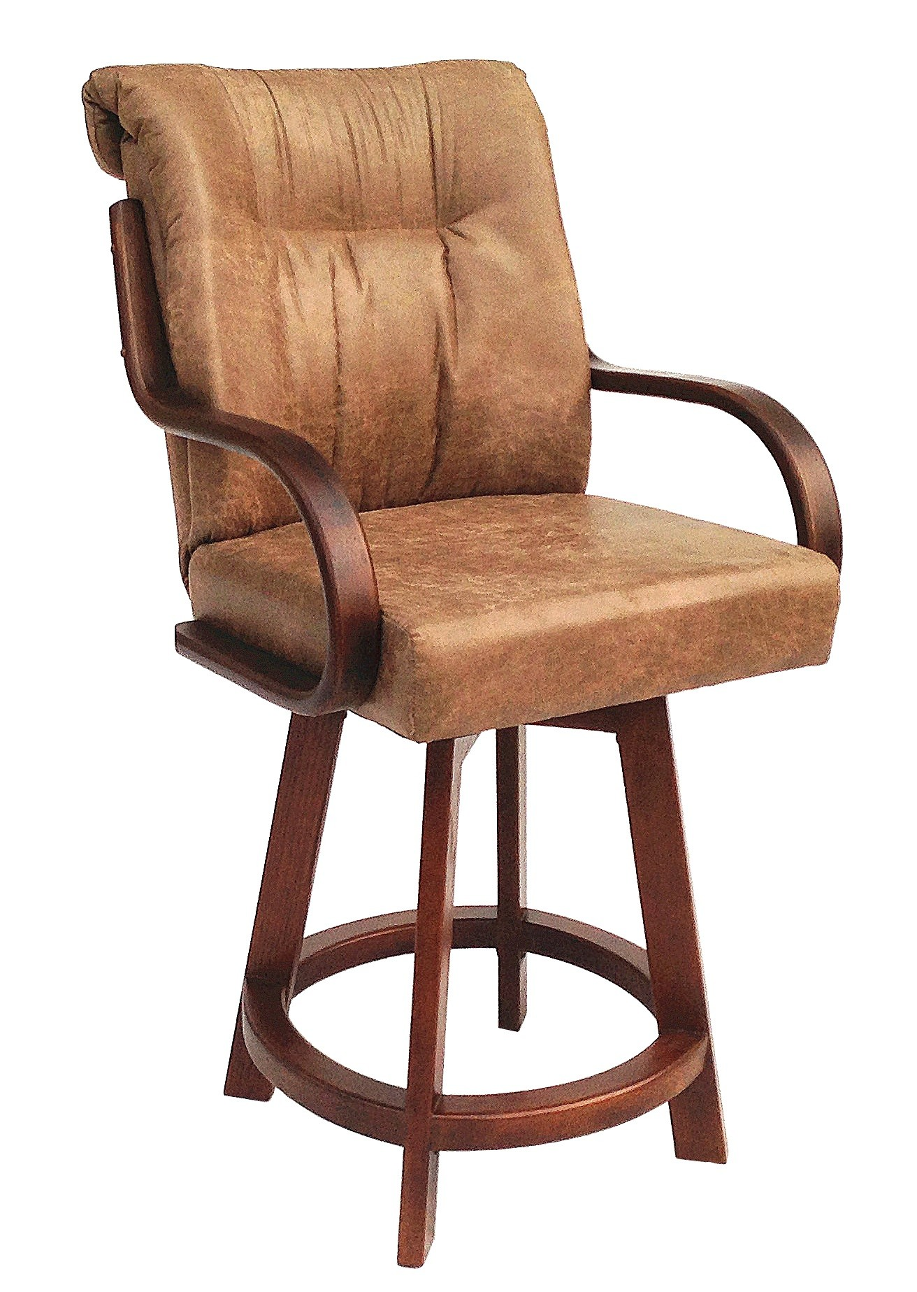 Chromcraft Furniture C179 384 Swivel 26 Quot Wood Bar Stool