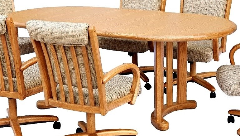 Chromcraft furniture t817 77 oval dining table discount dinettes - Chromcraft dining room furniture ...